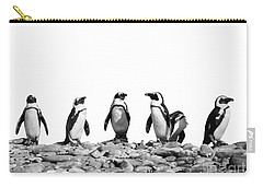 Penguins Carry-all Pouch by Delphimages Photo Creations