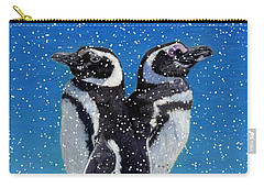 Penguins In The Snow Carry-all Pouch