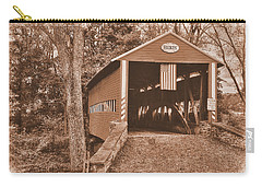 Pennsylvania Country Roads - Heikes Covered Bridge Over Bermudian Creek Sepia - Adams County Carry-all Pouch