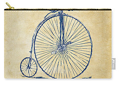 Carry-all Pouch featuring the digital art Penny-farthing 1867 High Wheeler Bicycle Vintage by Nikki Marie Smith