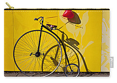 Penny Farthing Love Carry-all Pouch by Garry Gay