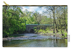 Carry-all Pouch featuring the photograph Pennypack Creek Bridge Built 1697 by Bill Cannon