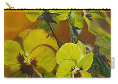 Carry-all Pouch featuring the painting Pennys Up Close Revisited by LaVonne Hand