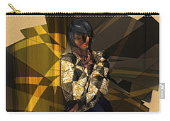 Pensive Woman Carry-all Pouch