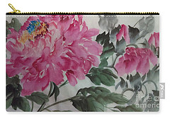 Carry-all Pouch featuring the painting Peoney20161230_623 by Dongling Sun