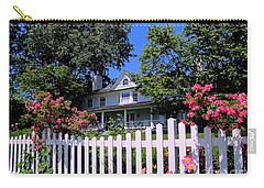 Peonies And Picket Fences Carry-all Pouch