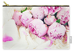 Peonies And Wedding Dress Carry-all Pouch