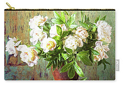 Peonies In A Vase Carry-all Pouch