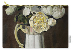 Peonies In Fluted Japanese Coffeepot Carry-all Pouch