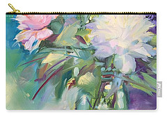 Peonies In Jar Carry-all Pouch