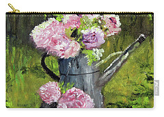 Peonies In Watering Can Carry-all Pouch