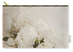 Peonies In White  Carry-all Pouch