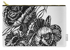 Peonies Line Drawing Carry-all Pouch