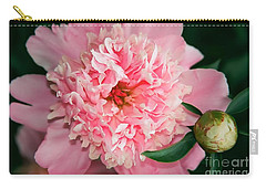 Peony And Bud Carry-all Pouch by Kathy McClure