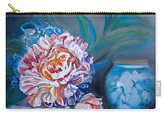 Peony And Chinese Vase Carry-all Pouch