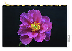 Peony - Beautiful Flowers And Decorative Foliage On The Right Is One Of The First Places Among The G Carry-all Pouch