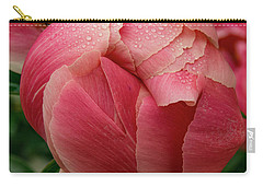 Carry-all Pouch featuring the photograph Peony Detail by Jean Noren