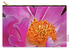 Pink Peony Garden Splendor Carry-all Pouch by Carol F Austin