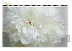 Peony In White Carry-all Pouch