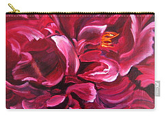 Peony Carry-all Pouch by LaVonne Hand