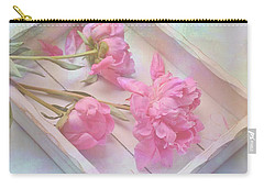 Peonies In White Box Carry-all Pouch by Diane Alexander