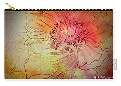 Peony Carry-all Pouch by Maria Urso