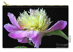 Peony On Black Carry-all Pouch