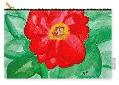 Carry-all Pouch featuring the painting Peony Painting Two by Marsha Heiken
