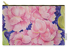 Carry-all Pouch featuring the painting Peony Passion by Michele Myers