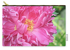 Carry-all Pouch featuring the photograph Peony Perfection by Lynda Lehmann