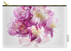 Carry-all Pouch featuring the photograph Peony Pink Squared by Rebecca Cozart