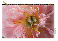 Peony Radiant In Pink Carry-all Pouch by Dora Sofia Caputo Photographic Art and Design