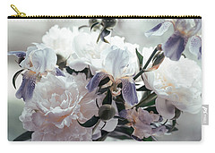 Carry-all Pouch featuring the photograph Peony Romance by Jenny Rainbow