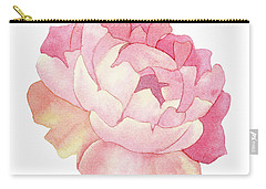 Peony Watercolor  Carry-all Pouch by Taylan Apukovska