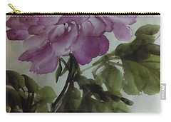 Carry-all Pouch featuring the painting Peony20170126_1 by Dongling Sun