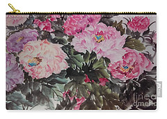 Carry-all Pouch featuring the painting Peony20170126_2 by Dongling Sun