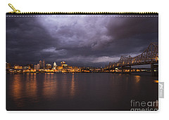 Carry-all Pouch featuring the photograph Peoria Dramatic Skyline by Andrea Silies