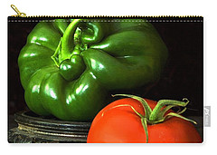 Carry-all Pouch featuring the photograph Pepper And Tomato by Elf Evans