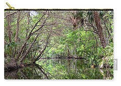 Carry-all Pouch featuring the photograph Pepper Creek Reflections by Carol Bradley