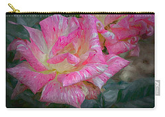 Peppermint Rose Carry-all Pouch