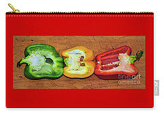 Carry-all Pouch featuring the photograph Peppers In A Row By Kaye Menner by Kaye Menner