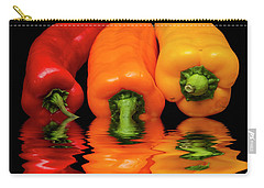 Carry-all Pouch featuring the photograph Peppers Red Yellow Orange by David French