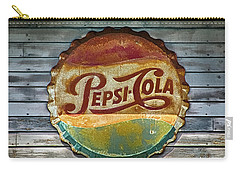 Pepsi-cola Sign Vintage Carry-all Pouch by Betty Denise
