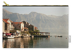Carry-all Pouch featuring the photograph Perast Restaurant by Phyllis Peterson