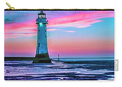 Perch Rock Sunset Carry-all Pouch by Brian Tarr
