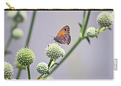 Perched Butterfly No. 255-1 Carry-all Pouch by Sandy Taylor