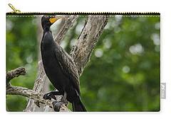 Perched Double-crested Cormorant Carry-all Pouch