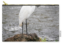 Carry-all Pouch featuring the photograph Perched Great Egret by Ricky L Jones