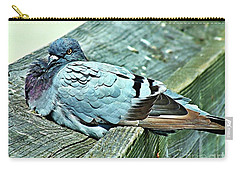 Perched Rock Dove Carry-all Pouch