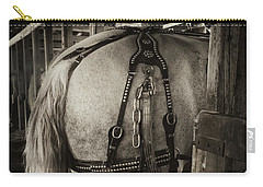Percheron Draft Horse Carry-all Pouch by Theresa Tahara